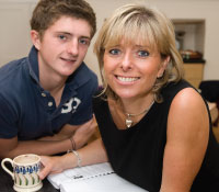 Penny Power and her eldest son Ross Power