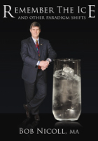 Bob Nicoll leaning against a large glass of ice